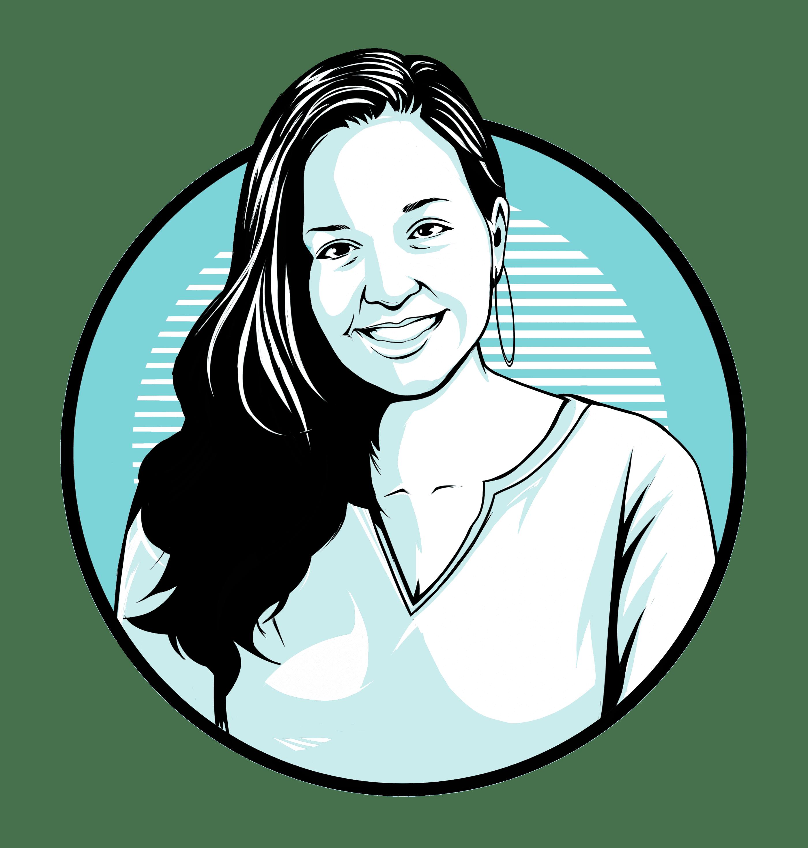 Caricature of Gina Desiderio