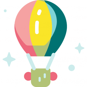 icon drawing of a hot air balloon