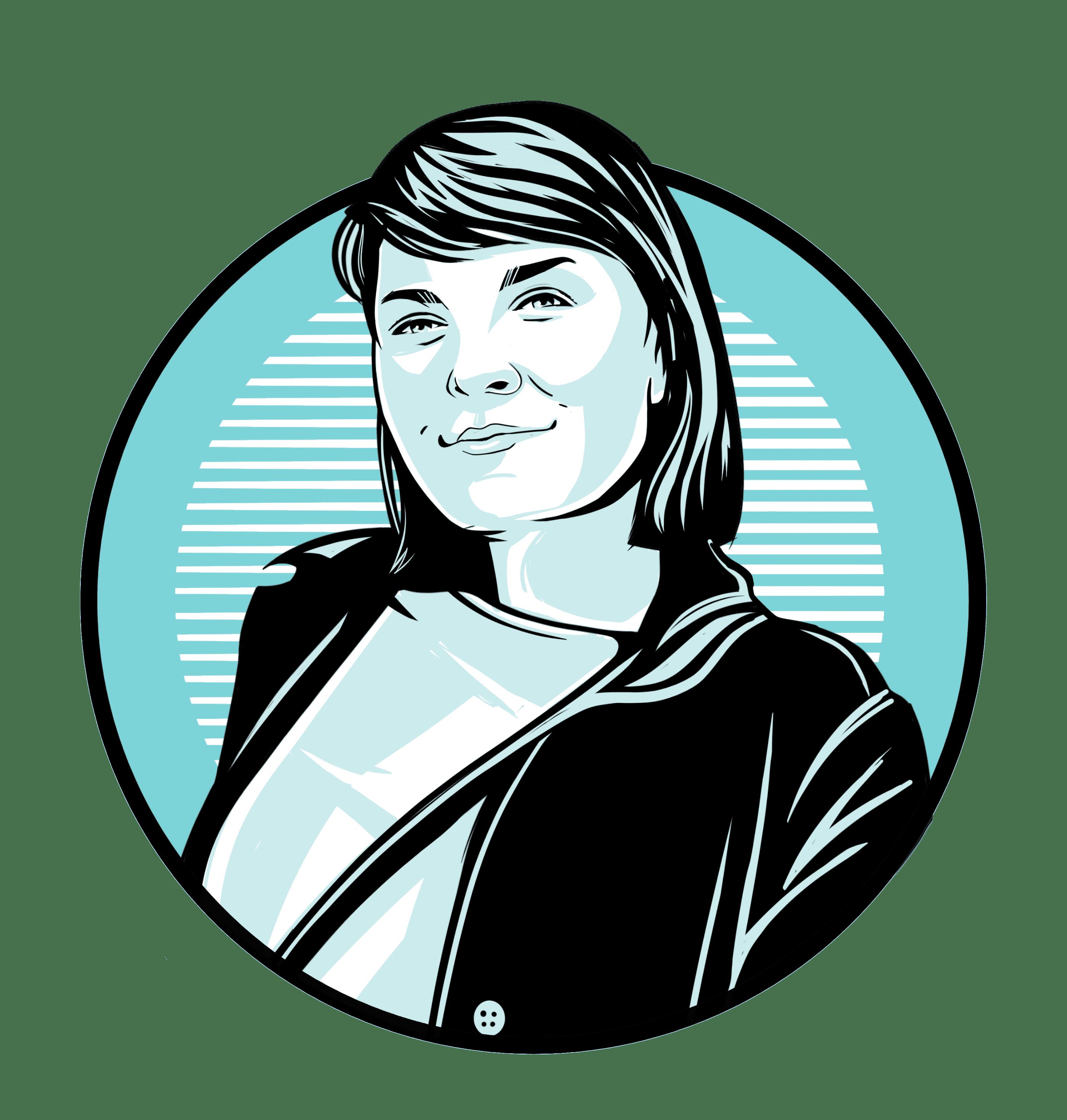 Caricature of Mariah Cowsert