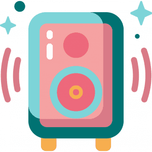 icon drawing of a speaker