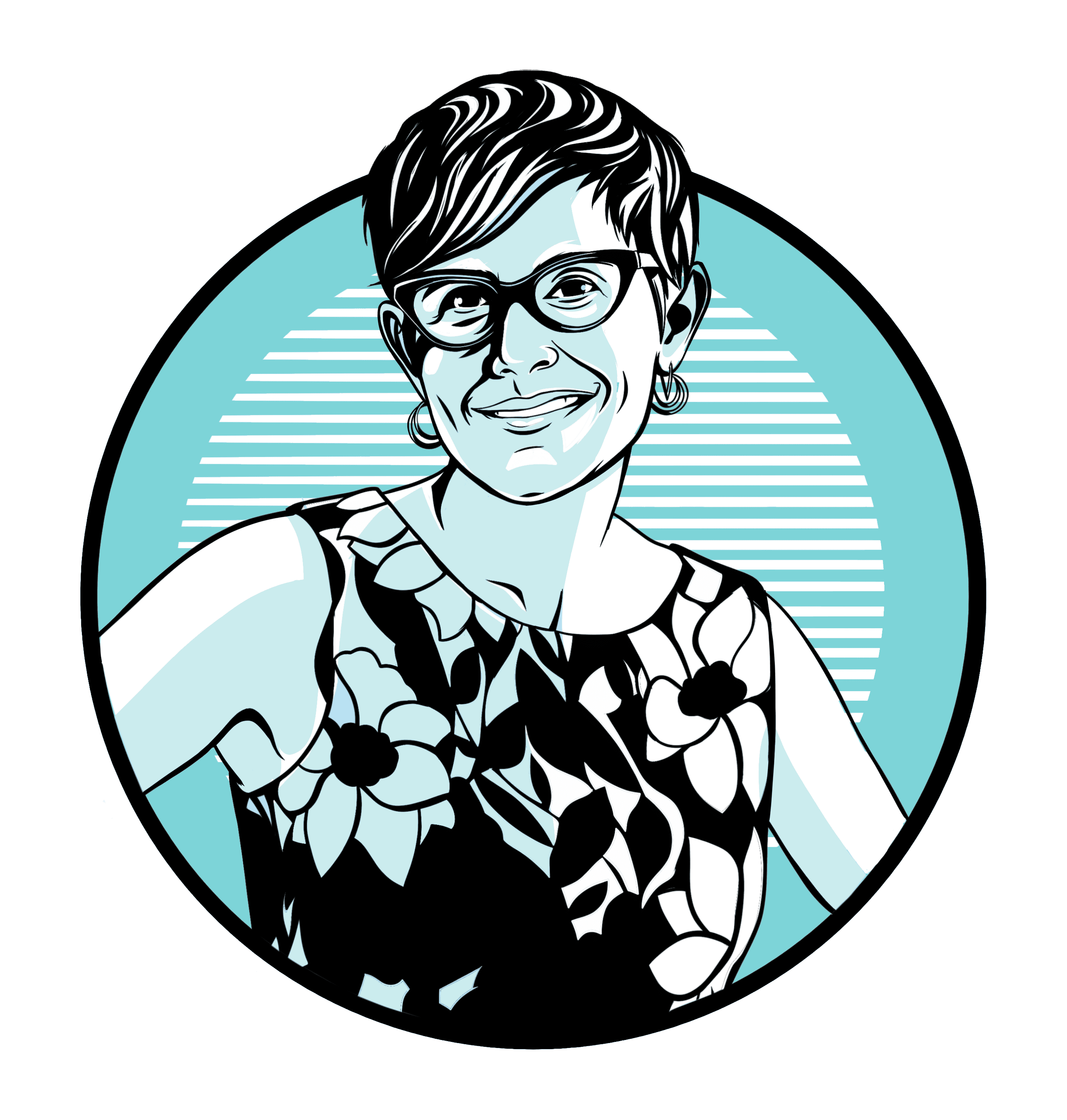 Caricature of Valerie Sedivy